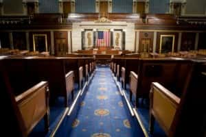 WASHINGTON - DECEMBER 8:  The U.S. House of Representatives chamber is seen December 8, 2008 in Washington, DC. Members of the media were allowed access to film and photograph the room for the first time in six years.  (Photo by Brendan Hoffman/Getty Images)