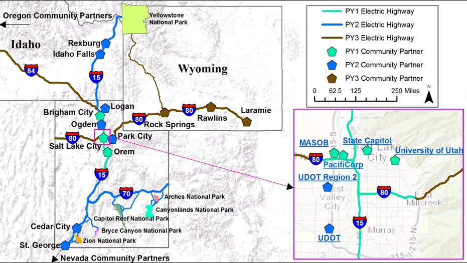 map-2 It's Electric: DOE Grant to Fund EV Corridors on Interstate Highways