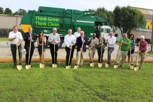10766_waste_management Waste Management Breaks Ground on Louisiana CNG Fleet Facility