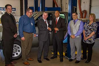 10798_occc Oklahoma Labor Dept. Donates CNG Truck to Community College