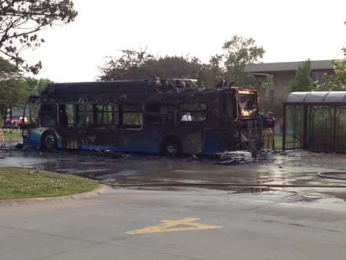 10841_fire_1 CNG Bus Catches Fire in Illinois