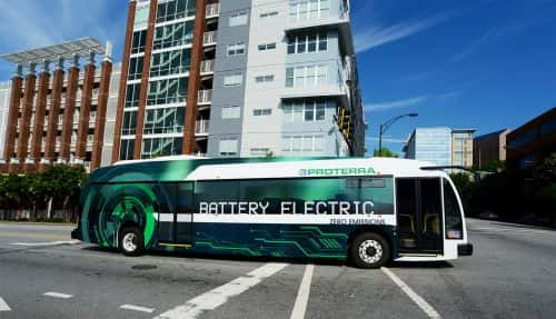 Proterra Expands Electric Bus Platform, Opens New HQ