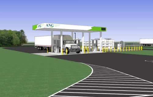 American Natural Gas Building Public CNG Station in New York