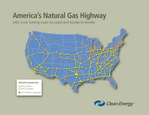 8347_natgashwy Clean Energy Says Phase One Of America's Natural Gas Highway Is Complete
