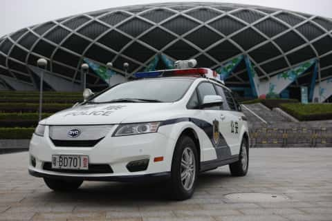 BYD Deploys 500 Electric Vehicles in Chinese Police Fleet