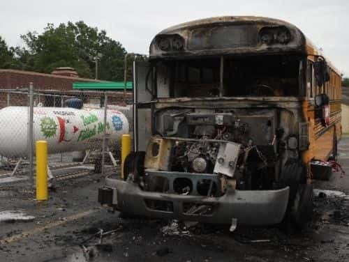 Propane Bus Charred In Fire Near Chattanooga