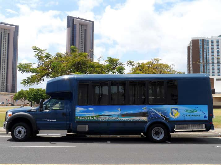 9838_us_hybrid_fuel_cell_shuttle_bus US Hybrid to Design Hydrogen Fuel Cell Bus for Hawaii MTA