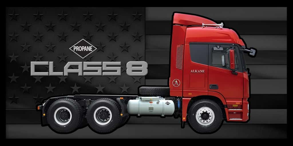 Long Haul Trucking >> Alkane Truck Announces Propane Autogas Class 8 Cab-Over ...