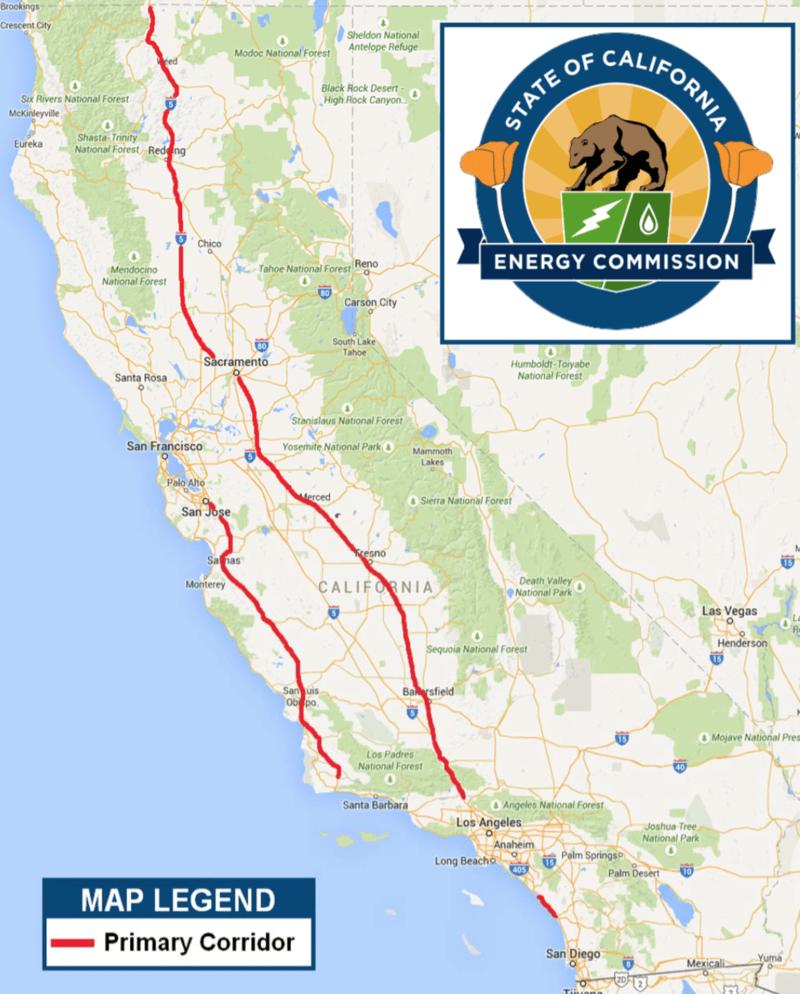 CEC Primary Corridors Map