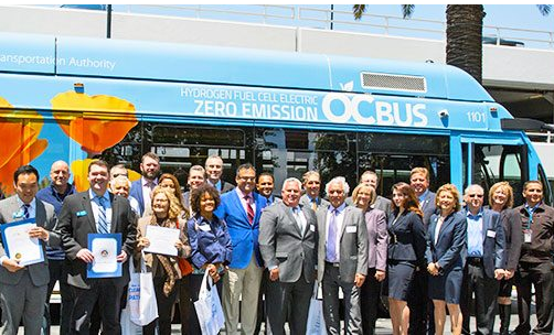 Orange County Gets Hydrogen Fuel Cell Bus, Aims for 100