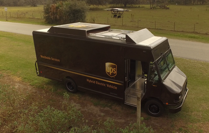 UPS Deploys Delivery Drone from Workhorse Battery-Electric Fleet