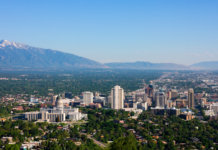 Aerial view of Salt Lake City