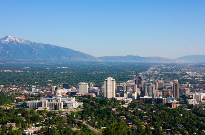 Aerial view of Salt Lake City