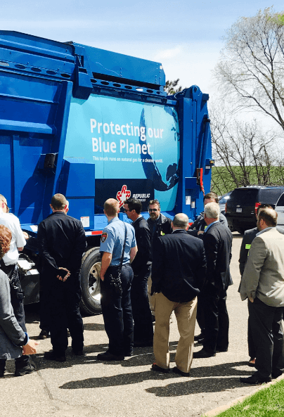 blue-planet Republic Services Adds 50 New CNG Garbage Trucks to Twin Cities Fleet