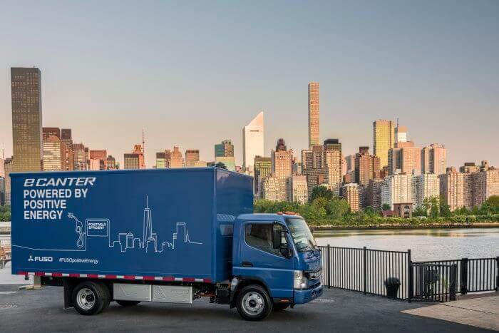 Daimler's all-electric eCanter box truck is ready for work