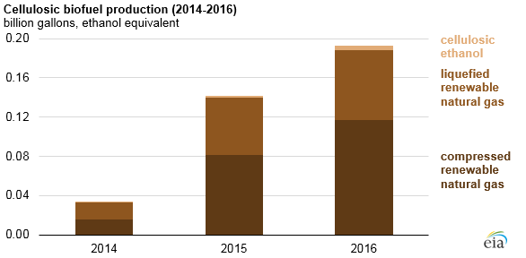 EIA-2 EIA Charts Renewable Natural Gas' Increasing Role in Meeting EPA Fuel Standard