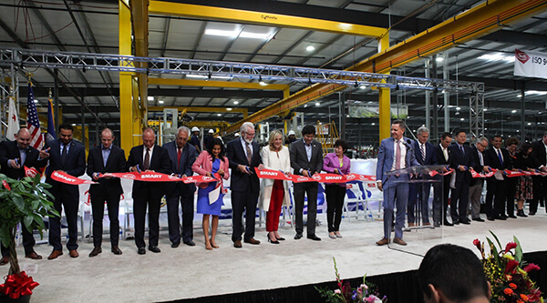 byd-ribbon BYD Cuts Ribbon on Expanded Electric Bus Factory in California