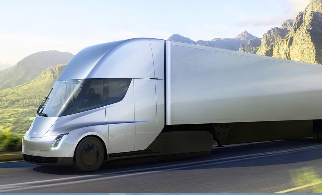 Elon Musk Unveils the All-Electric Tesla Semi