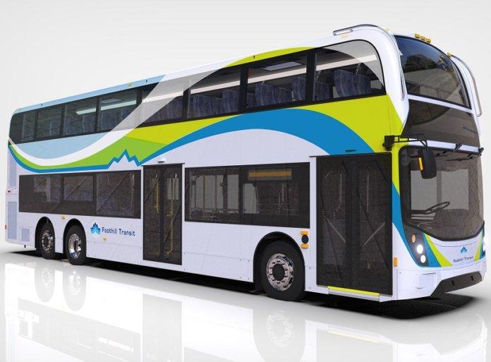 double-decker electric bus
