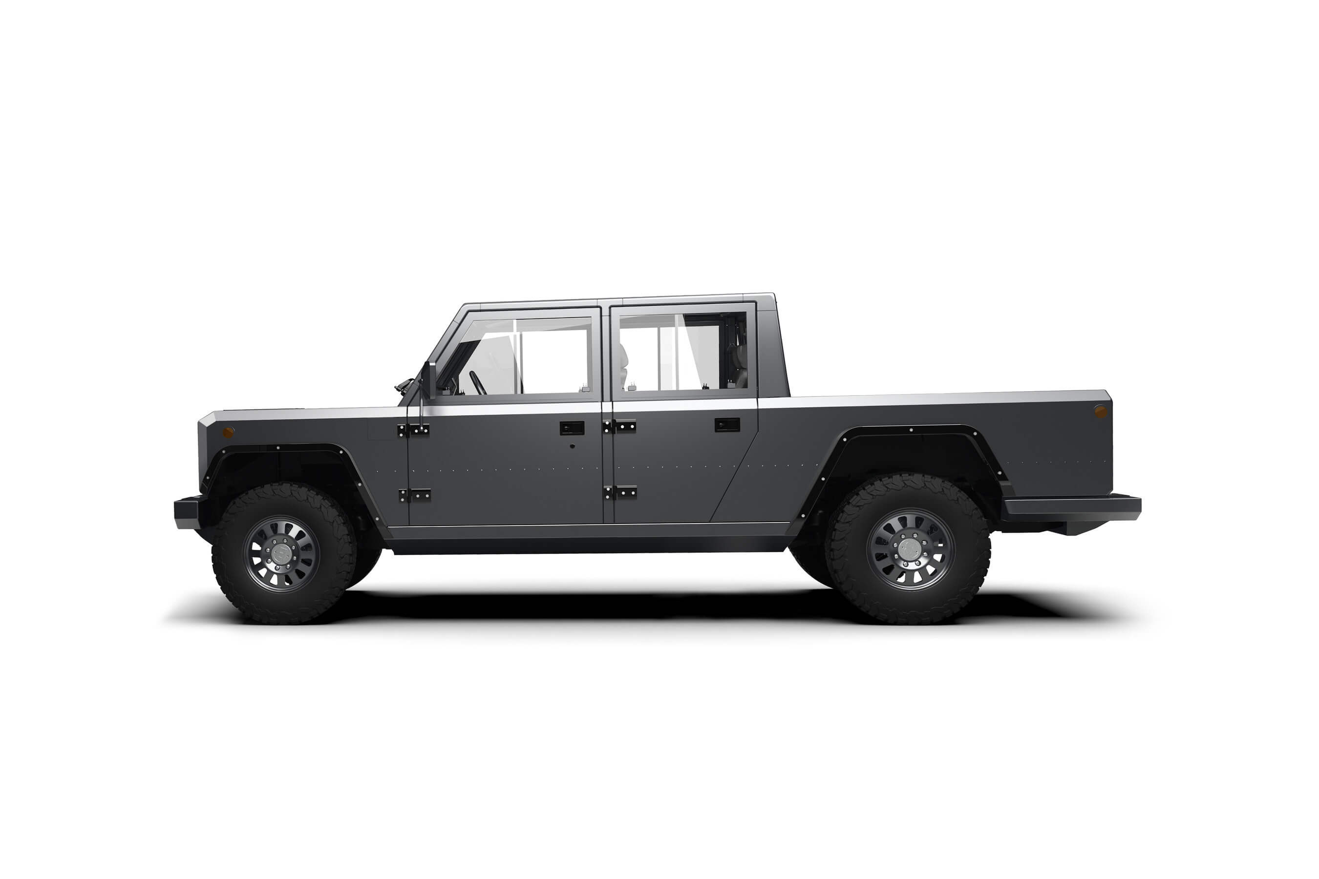 Bollinger Motors Has Unveiled A Preview Of The Company S Newest Vehicle Design An All Electric Wheel Drive B2 Pickup Truck